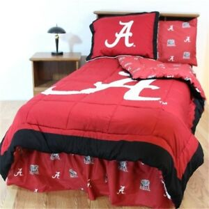 Comfy Feet Alabbtw Alabama Bed In A Bag Twin With Team Colored Sheets