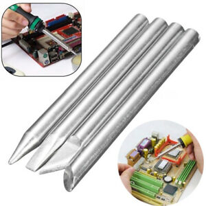 4pcs 60w Soldering Iron Tip Head Replaceable 5 5mm Shank Kit For Solder Irons