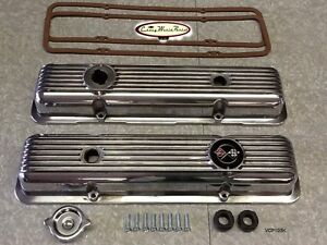 69 74 Camaro Z28 Lt1 69 77 Corvette Polished Aluminum Valve Cover Kit Covers