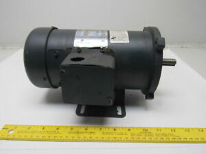 Leeson C42d17fk6c 1 2hp 1750rpm 180vdc Perm Mag Reversible Electric Motor Footed