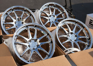 Used 19x9 5 11 Aodhan Ds02 5x114 3 22 Vacuum Chrome Rims Aggressive Fits 350z