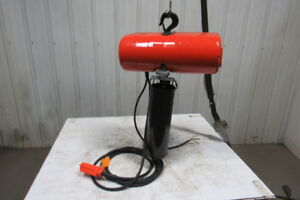 Cm Lodestar Model L 1 Ton 1hp Electric Chain Hoist 230 460v 3ph 20 6 Lift 16fpm