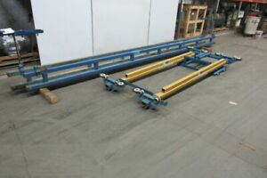 Gorbel 1 Ton Ceiling Mounted Bridge Crane 10 Span X 20 Run W push Pull Trolley