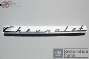 1954 Chevy Passenger Car Rear Deck Lid Trunk Script Emblem New