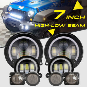 7 Cree Led Headlight fog Lamp turn Signal fender Lamp For Jeep Wrangler 07 18