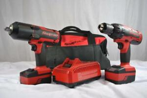 Snap On 1 2 Impact Wrench 1 2 Hammer Drill Combo Kit Ct7850 Cdr7850h