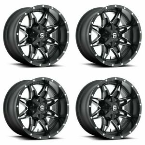 Set 4 15 Fuel Lethal D567 Matte Black Milled Rims 15x8 5 Lug 5x5 5 Truck 18mm