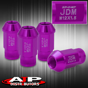 12x1 5mm Thread Pitch Universal Lug Nut Jdm Sport Purple Open Ended Upgrade Set