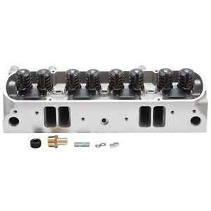 61595 Edelbrock Cylinder Head Pontiac Performer D Port 72cc Chambers For
