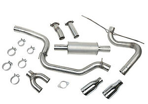Roush Performance Parts 421610 Cat back Exhaust Kit 12 17 Fits Ford Focus St