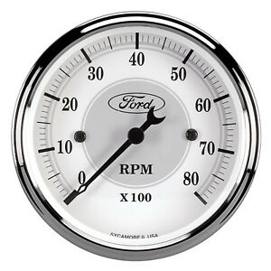 Auto Meter 880088 Fits Ford Racing Tach 3 1 8 In Dach White Face