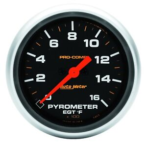 Auto Meter 5444 2 5 8in P C 1600 Degree Pyrometer