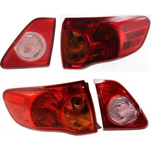 Tail Light For 2009 2010 Toyota Corolla Driver And Passenger Side