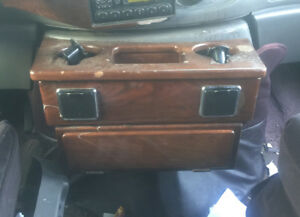 1999 Ford D Elegant Van Custom Large Deluxe Console Engine Cover Wood Drink Tray