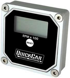 Quickcar Racing Products 611 100 Lcd Recall Tach Black