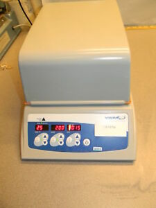 Vwr Incubating Microplate Shaker 10027 132 100 1200 Rpm 3mm Orbit Opaque Lid