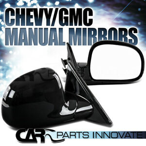 94 98 S10 Blazer S15 Jimmy Sonoma Glossy Black Left Right Manual Side Mirrors