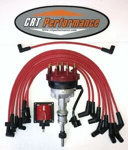 1991 1995 Ford 5 0l 302 Efi Distributor 45k Coil Red Spark Plug Wires Usa