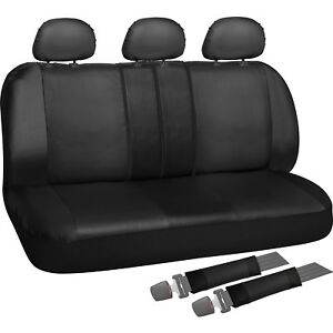 Rear Seat Cover Set For Car Truck Suv Split Bench Pu Leather 8pc