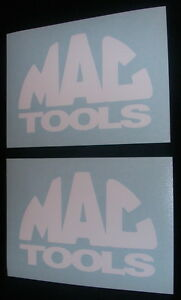 2 Mac Tools 4 White Decals Stickers For Cars Trucks Windows Toolbox