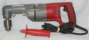 Milwaukee 1 2 Reversable Right Angle Corded Drill 1101 1 Good Used