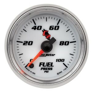 7163 Autometer C2 52mm 100 Psi Electronic Fuel Pressure Gauge