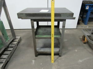 24 x36 x3 1 2 Black Granite Surface Plate W 40 1 2 High Stand