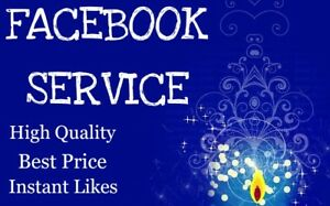 Facebook Service real Fast Delivery High Quality Service Best Price