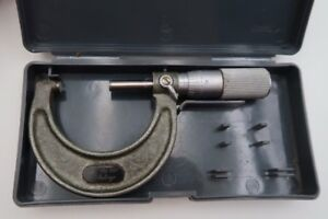 Mitutoyo 1 To 2 Micrometer Model 103 136 0001 Ten Thousands Place With Case
