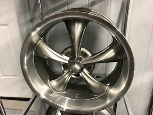 Ridler Grey 695 5x4 75 5x120 65 18x8 Free Lugs S10 Camaro Hot Rod Shiny Gray Rim
