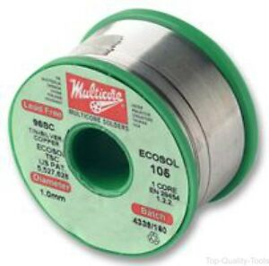 Multicore Loctite 96sc 400 5c 1 00mm solder Wire Lead Free 1mm 500g