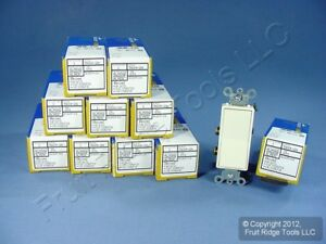 10 Leviton Almond 4 way Decora Rocker Wall Light Switches 15a 120 277v 5604 2as