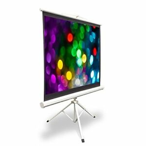 Pyle 40 Video Projector Screen Easy Fold out Roll up Projection Tripod