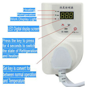Digital Fridge Freezer Thermostat Aquarium Temperature Controller Heat Mat 220v