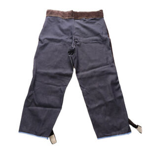 Anti scald Cowhide Leather Welding Trousers Protective Welding Pants xxl