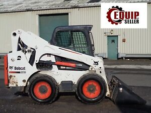 2016 Bobcat S770 Skid Steer Loader Diesel Enclosed Cab Heat ac