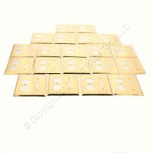 20 Creative Accents Solid Brass Toggle Switch Outlet 2g Cover Wallplates 15045
