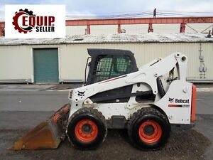 2011 Bobcat S750 Skid Steer Loader Kubota Diesel Enclosed Cab