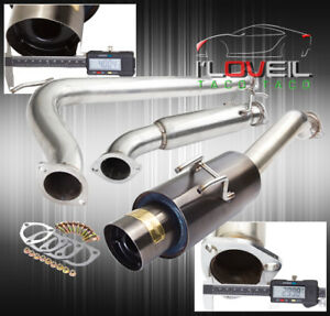 2006 2011 Honda Civic Si Coupe Stainless Catback Exhaust System Gunmetal Tip