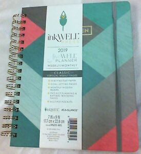 At a glance Inkwell Press Weekly monthly Classic Livewell Planner 7 X 9