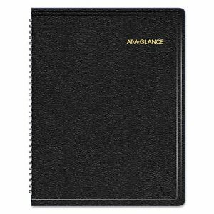 At a glance Triple View Weekly monthly Appointment Book 8 25 X 10 88 Black