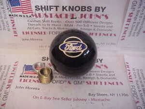 Ford Licensed Custom Shift Knob Oval Logo Car Truck Hot Rod Black