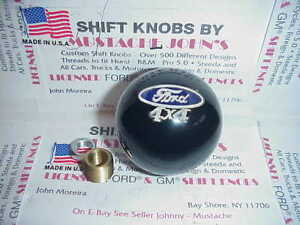 Ford 4x4 Licensed Custom Shift Knob Car Truck Hot Rod Black 2 1 8