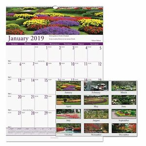 House Of Doolittle Recycled Gardens Of The World Monthly Wall Calendar 15 1 2 X