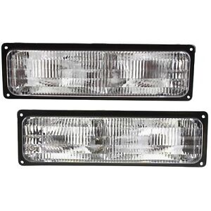 Corner Parking Turn Signal Light Lamp Left Right Pair Set For Chevy Gmc Truck