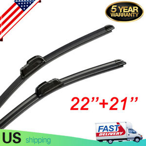 22 21 Windshield Wiper Blades All Season Premium Jhook Bracketless Us Stock