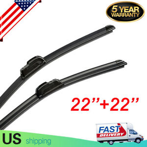 Windshield Wiper Blades 22 22 Inch Oem Quality Bracketless J Hook Free Ship