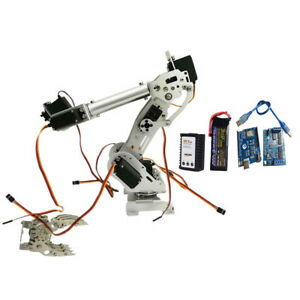 Wireless 8 Dof Robot Arm Gripper Claw Kit 15kg cm Servo Power Suite Silver