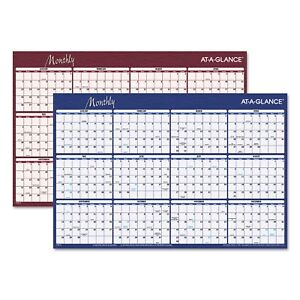 At a glance Reversible Horizontal Erasable Wall Planner 36 X 24 2019
