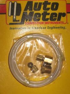 Auto Meter 3223 Tubing Nylon 1 8 10ft 1 8 Npt Brass Compression Fittings